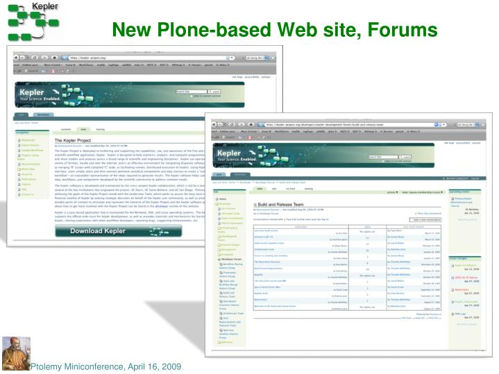 New Plone-based Web site, Forums