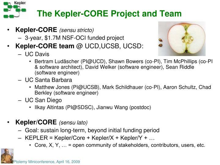 The Kepler-CORE Project and Team