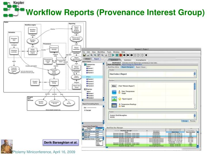Workflow Reports (Provenance Interest Group)