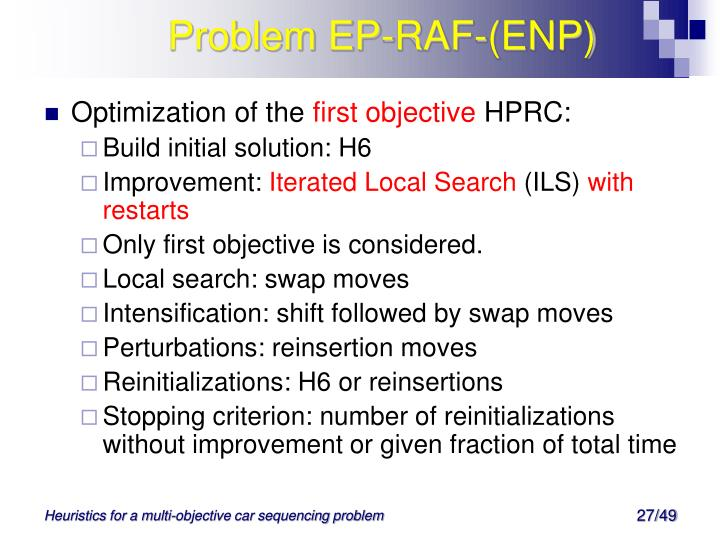 Problem EP-RAF-(ENP)