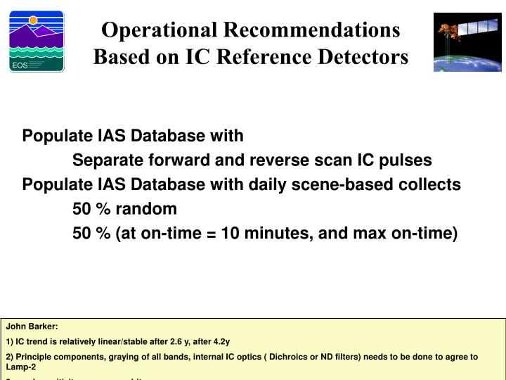 Operational Recommendations