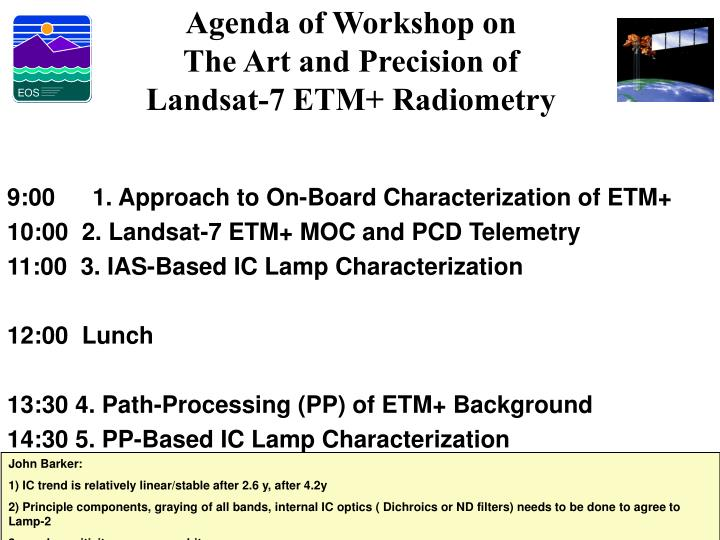 Agenda of Workshop on