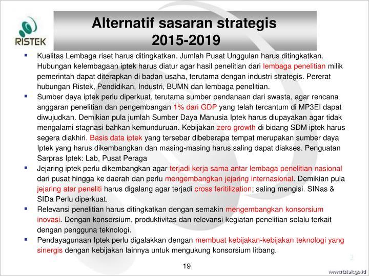 Alternatif sasaran strategis
