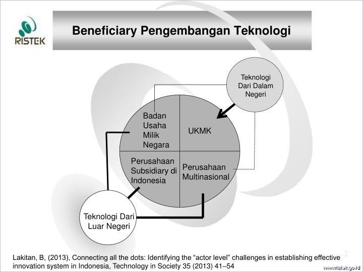 Beneficiary Pengembangan Teknologi