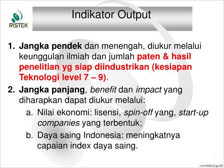 Indikator Output
