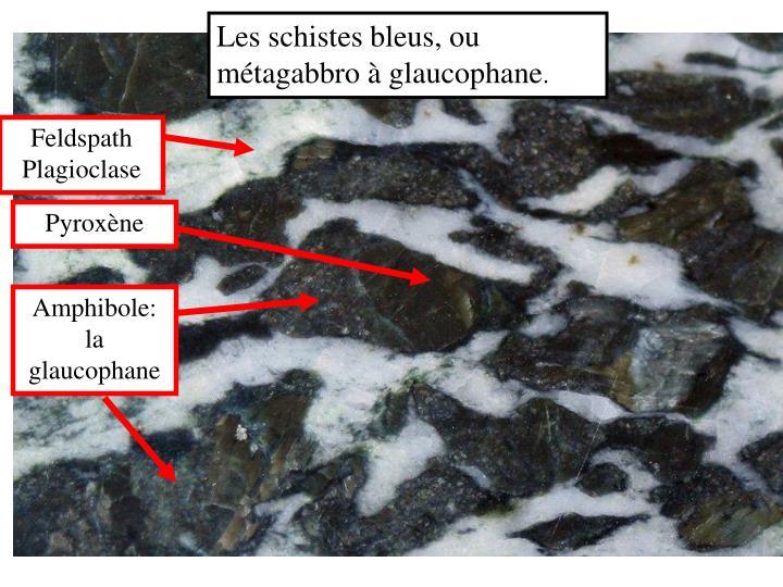 Les schistes bleus, ou métagabbro à glaucophane