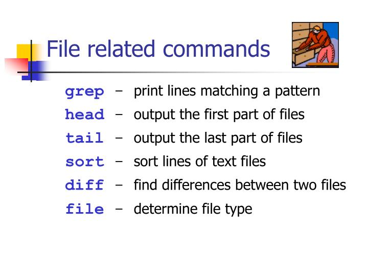 File related commands