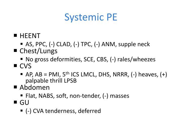 Systemic PE