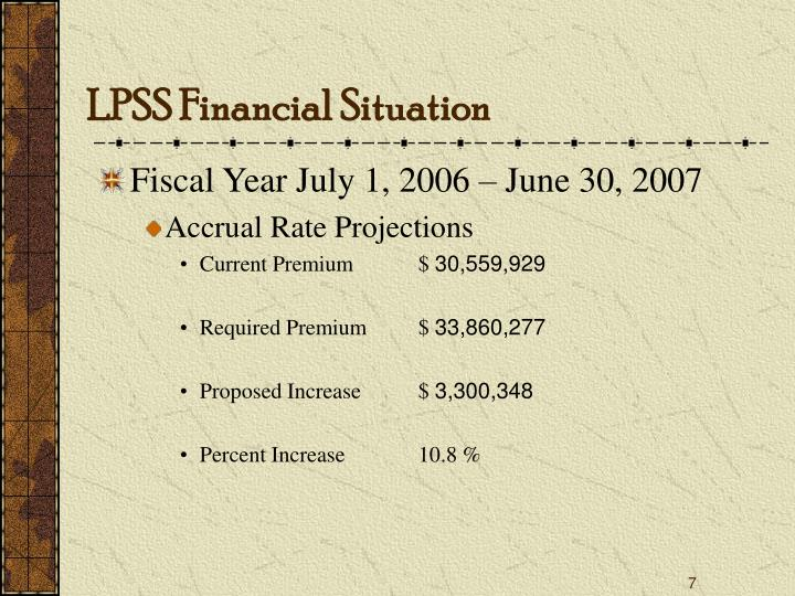 LPSS Financial Situation