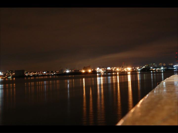 Night scenes the lake