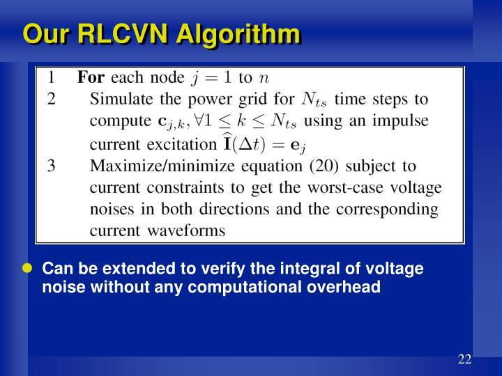 Our RLCVN Algorithm