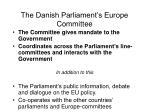 the danish parliament s europe committee