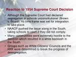 reaction to 1954 supreme court decision