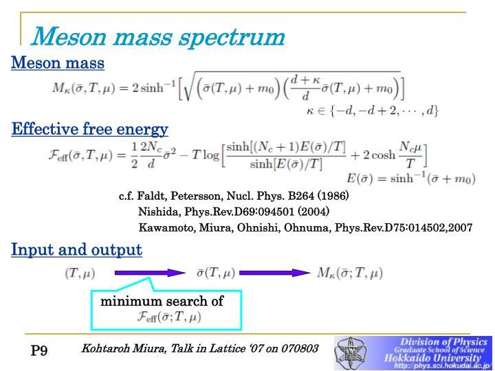 Meson mass spectrum