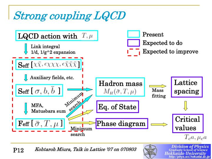 Strong coupling LQCD