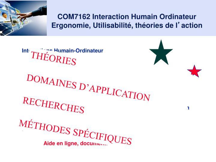 Com7162 interaction humain ordinateur ergonomie utilisabilit th ories de l action