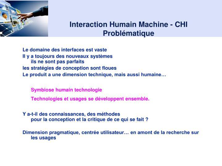 Interaction Humain Machine - CHI