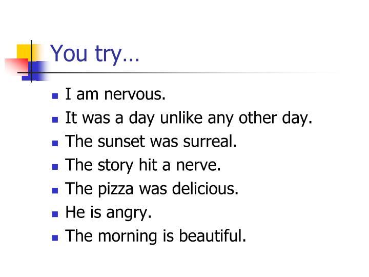 You try…