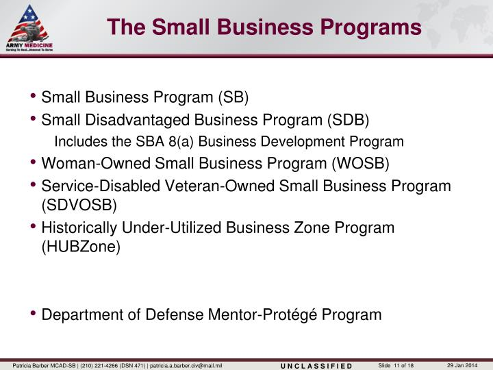 The Small Business Programs