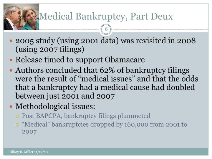 Medical Bankruptcy, Part Deux