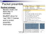 packet preamble