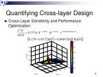 quantifying cross layer design1