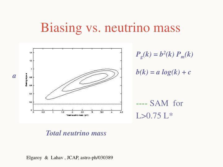 Biasing vs. neutrino mass