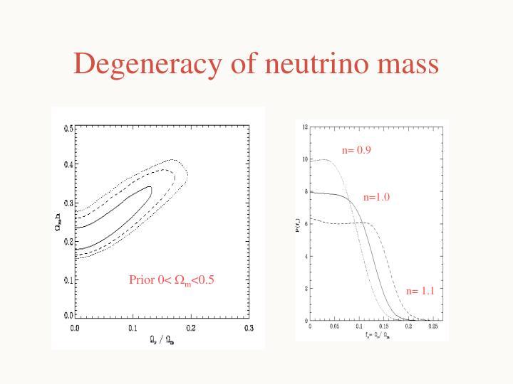 Degeneracy of neutrino mass