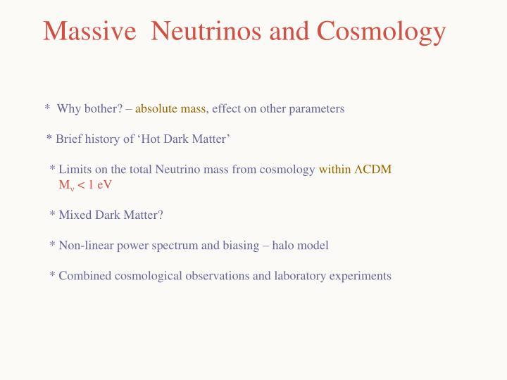 Massive neutrinos and cosmology