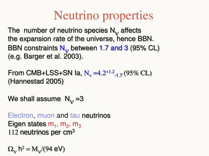Neutrino properties