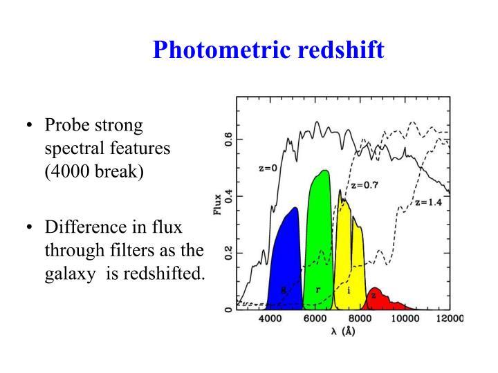Photometric redshift