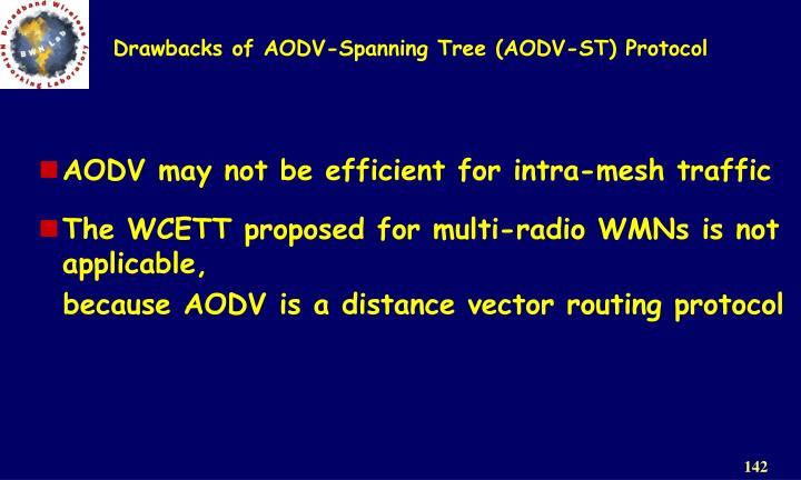 Drawbacks of AODV-Spanning Tree (AODV-ST) Protocol