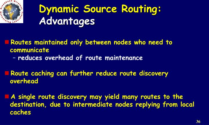 Dynamic Source Routing: