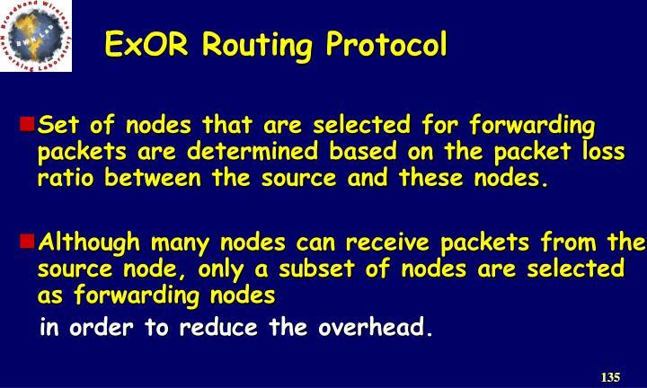 ExOR Routing Protocol