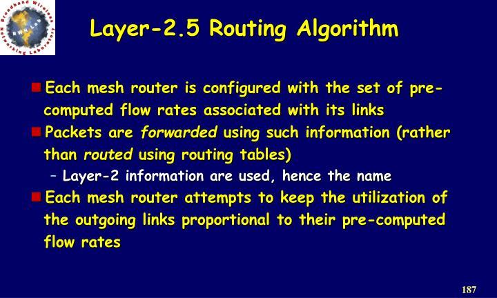 Layer-2.5 Routing Algorithm