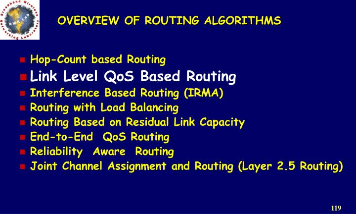 OVERVIEW OF ROUTING ALGORITHMS