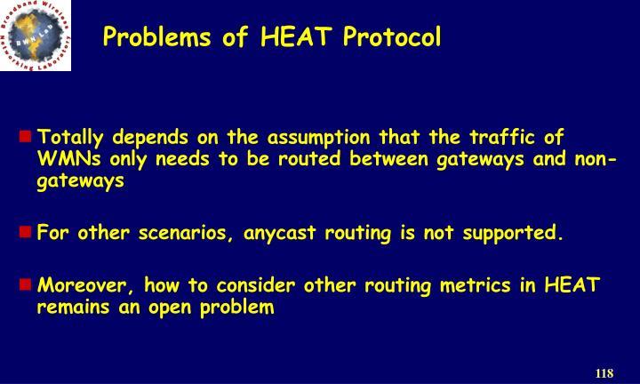 Problems of HEAT Protocol