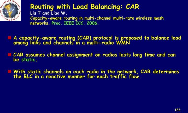 Routing with Load Balancing: CAR