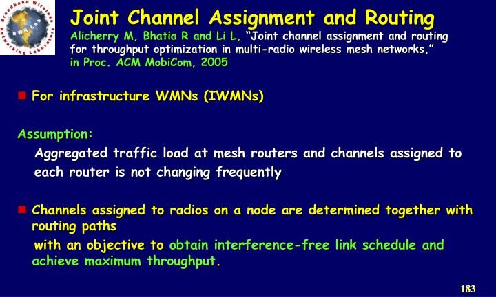 Joint Channel Assignment and Routing