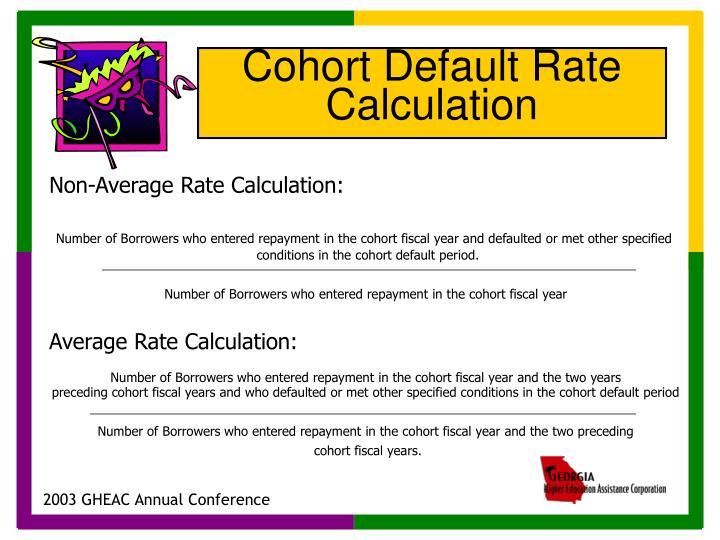Non-Average Rate Calculation: