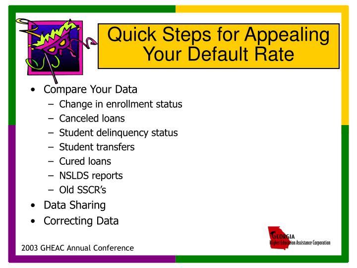 Compare Your Data