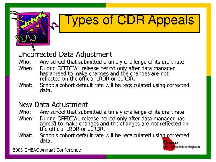 Uncorrected Data Adjustment