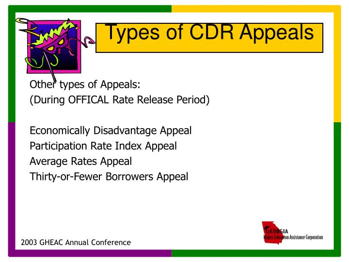 Other types of Appeals: