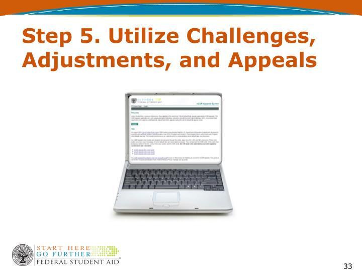 Step 5. Utilize Challenges, Adjustments, and Appeals