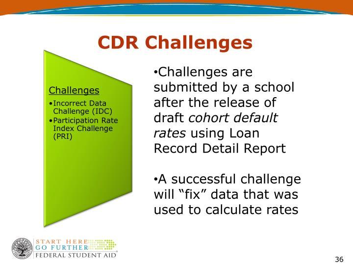 CDR Challenges