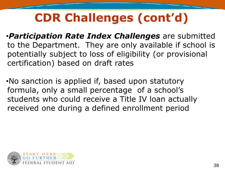 CDR Challenges (cont'd)