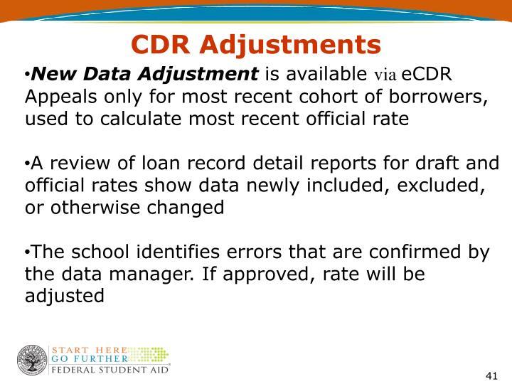 CDR Adjustments