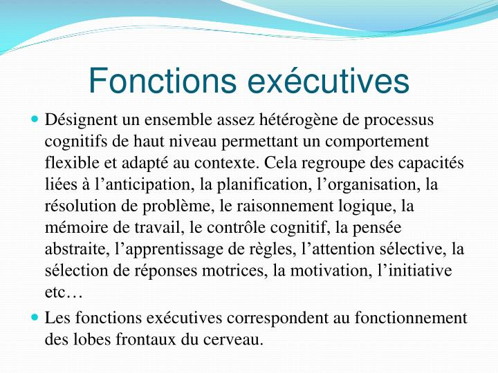Fonctions exécutives