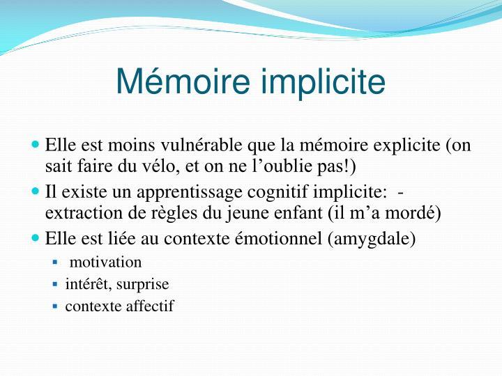 Mémoire implicite