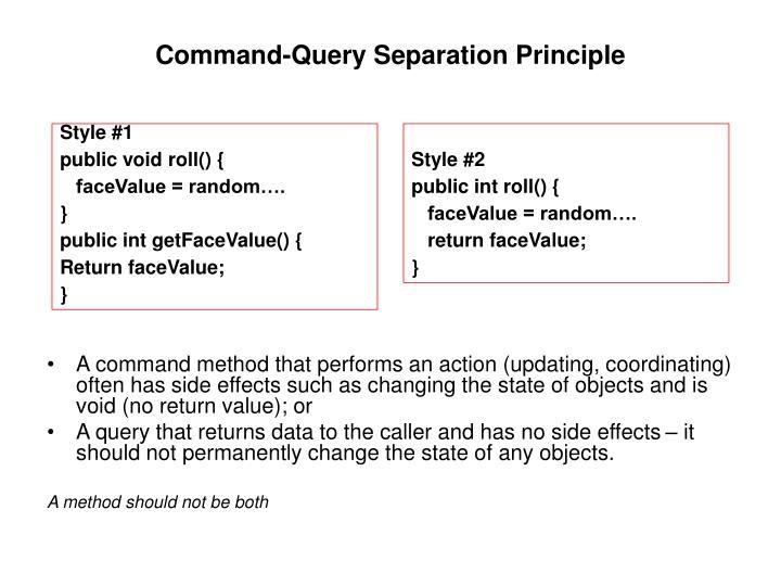 Command-Query Separation Principle